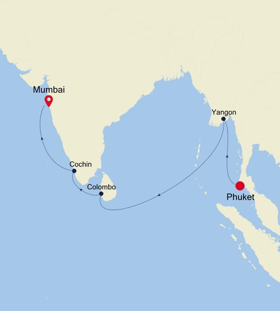 5005A - Phuket a Mumbai