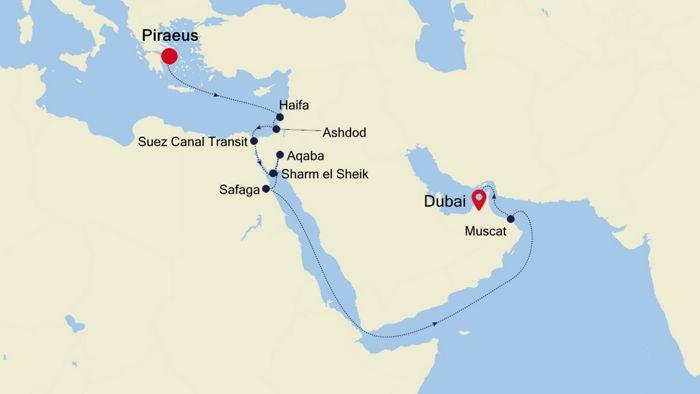 Luxury Cruise from ATHENS (Piraeus) to DUBAI 05 Nov 2020