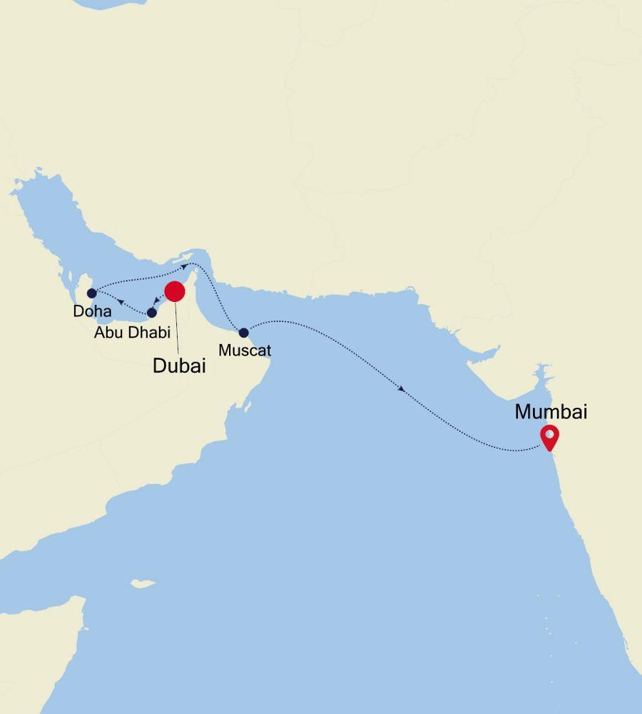SL201122009 - Dubai à Mumbai