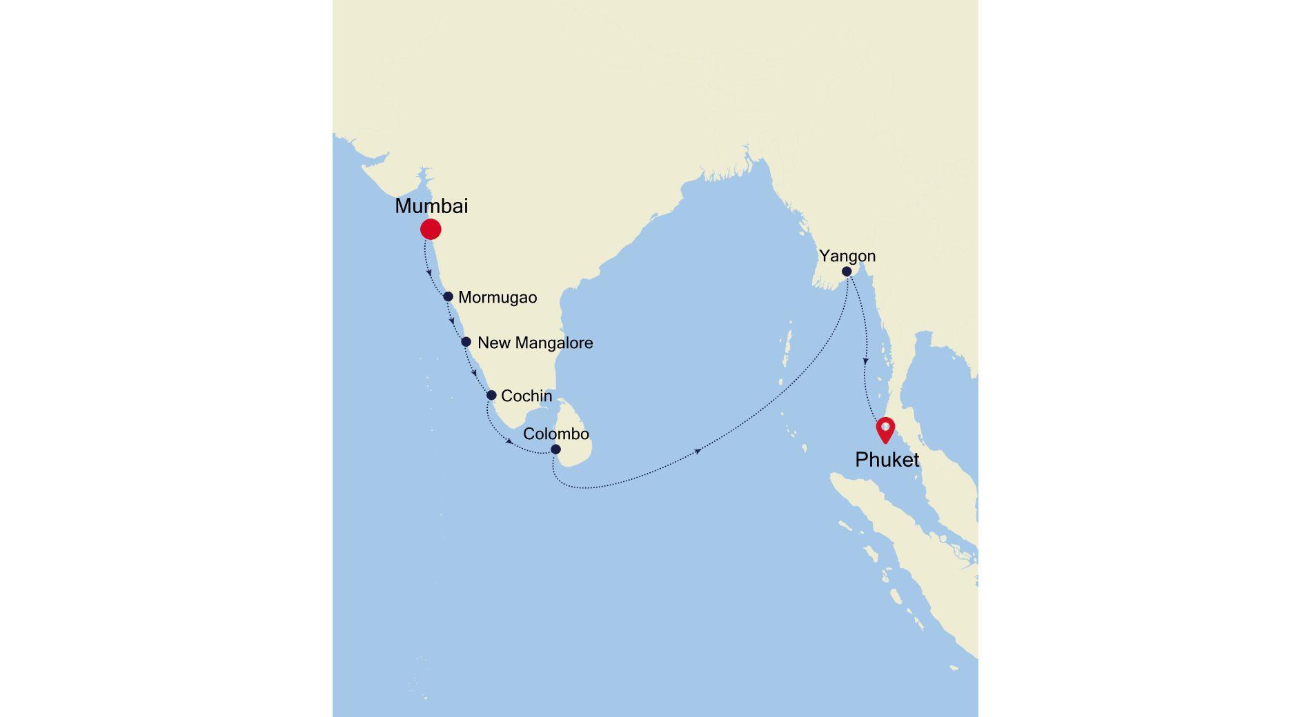 SL201201015 - Mumbai to Phuket