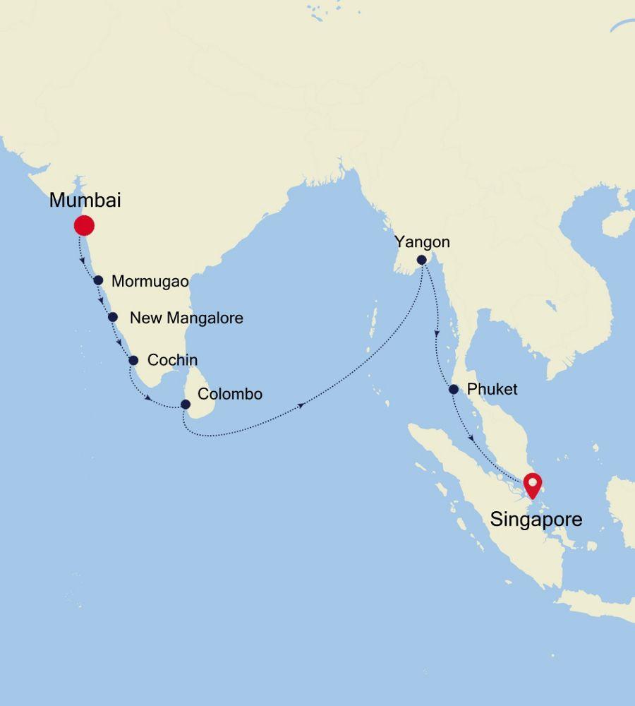 SL201201018 - Mumbai nach Singapore