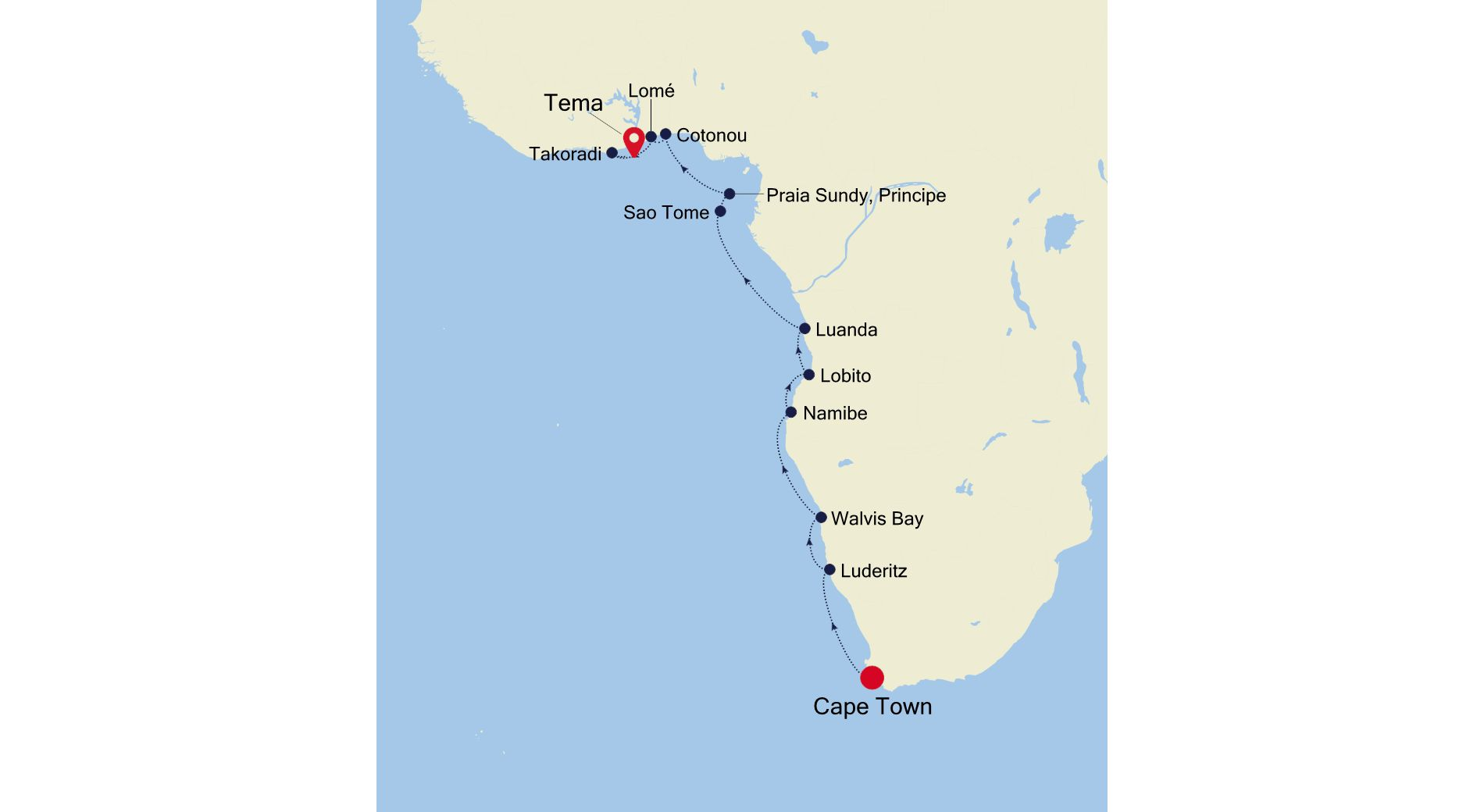 WI210330018 - Cape Town to Accra