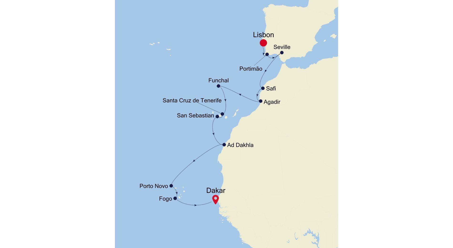 WI211012017 - Lisbon to Dakar
