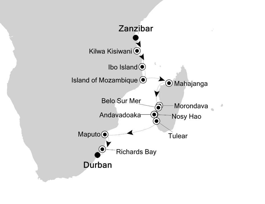 9827 - Zanzibar nach Durban