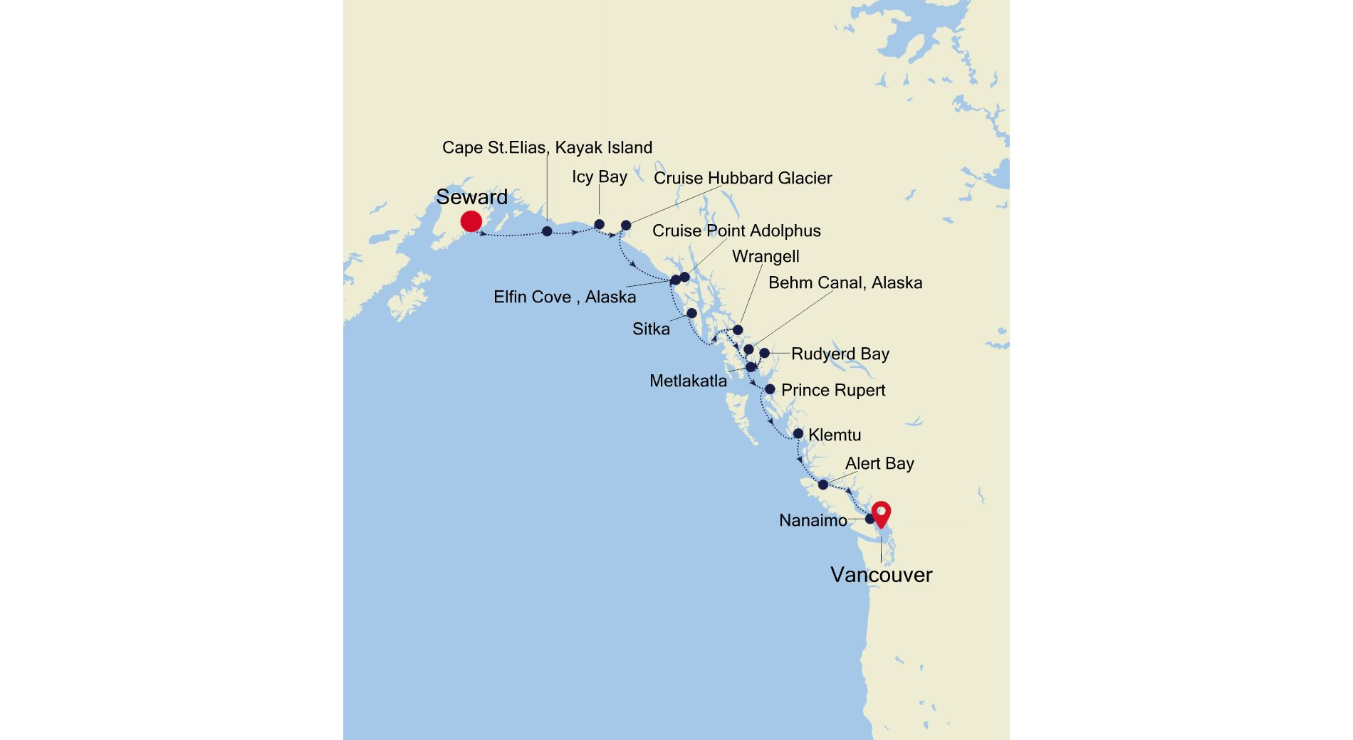 E4200926012 - Seward (Anchorage à Vancouver