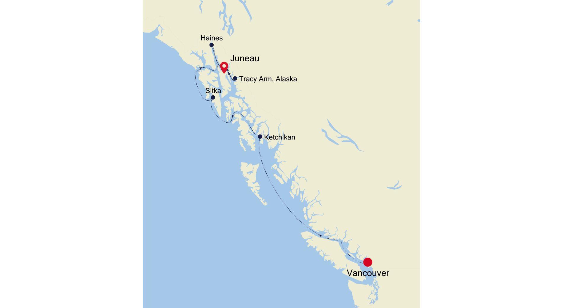 6912B - Vancouver à Juneau