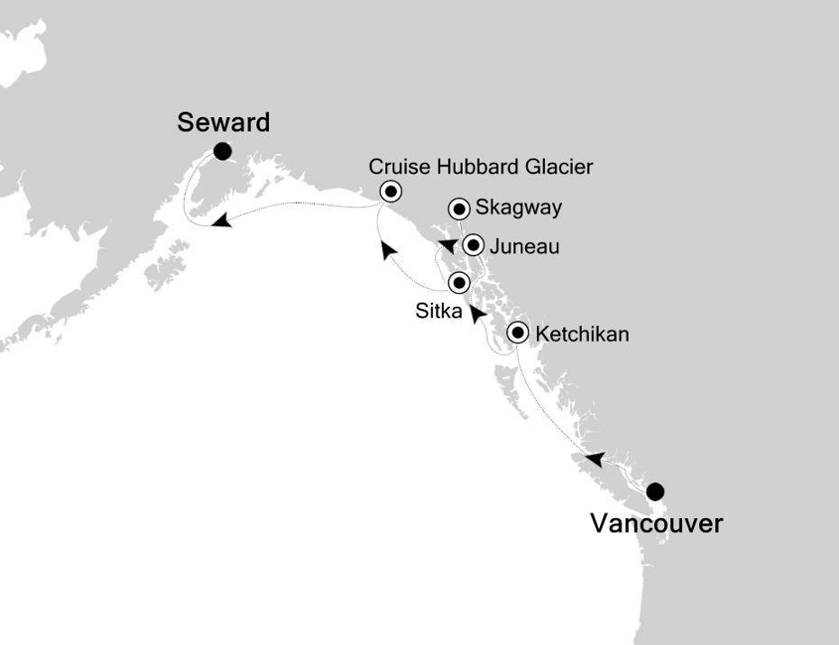 SM200709007 - Vancouver nach Seward