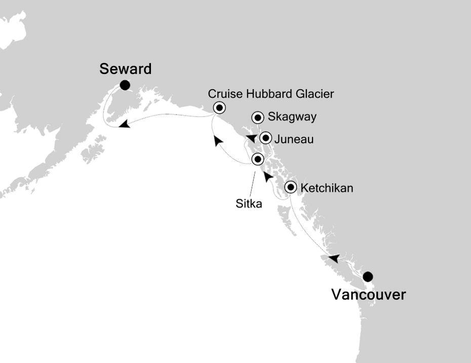 3828 - Vancouver a Seward