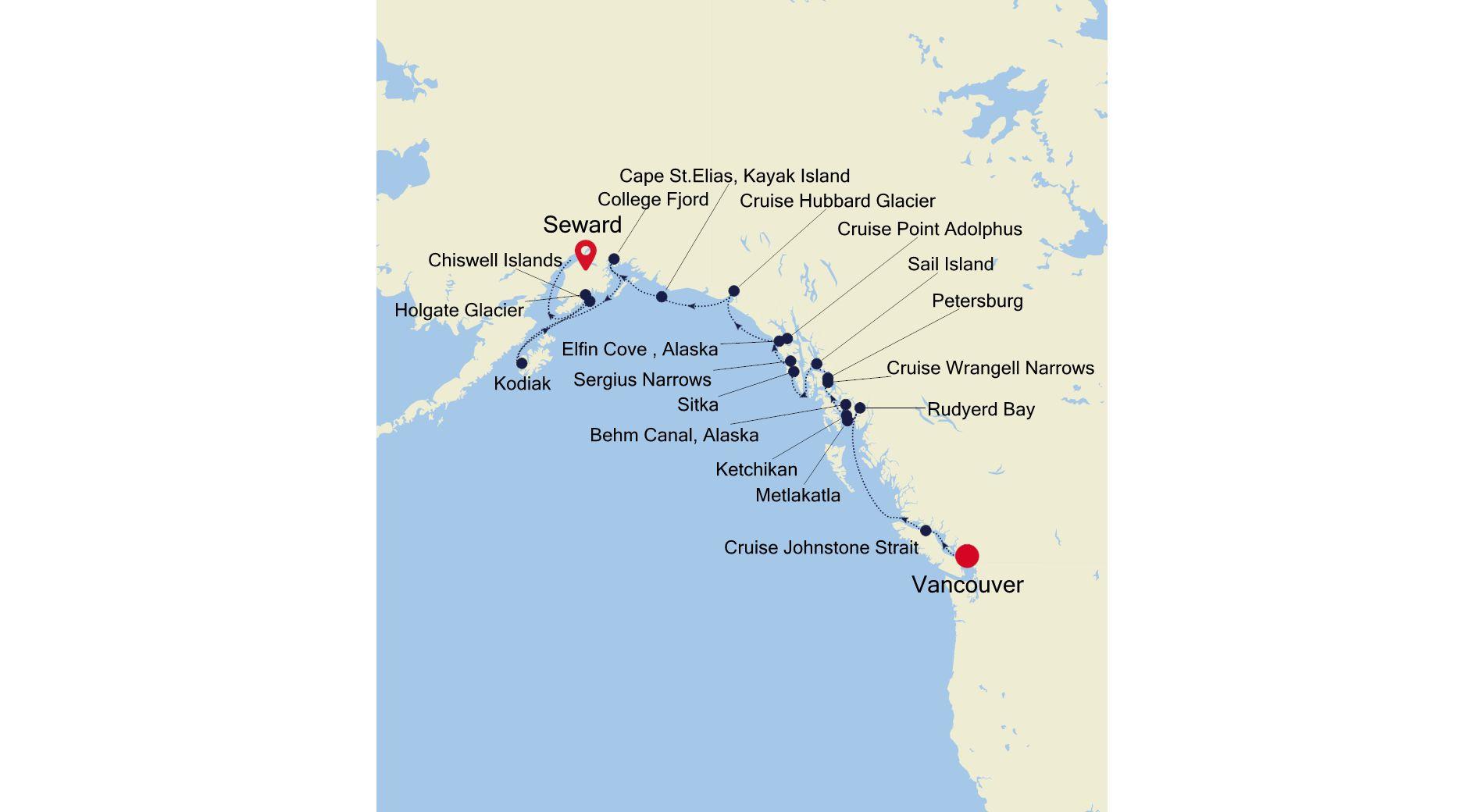 7914 - Vancouver nach Seward