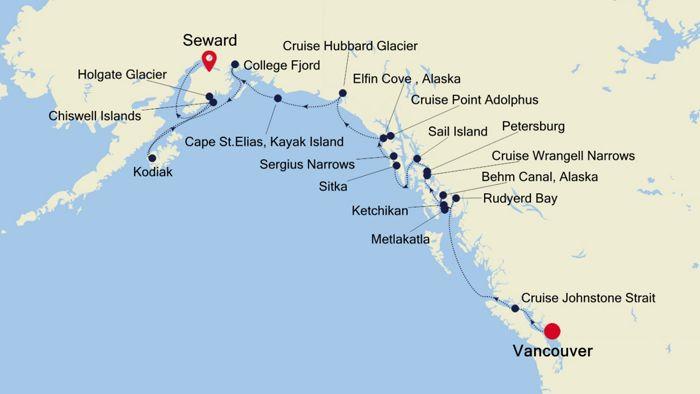 Luxury Cruise from VANCOUVER to SEWARD (Anchorage, Alaska) 12 Jul ...
