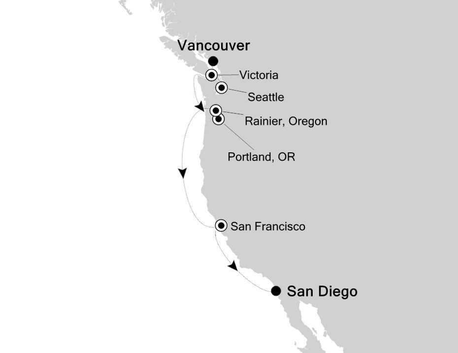 E4201008009 - Vancouver a San Diego