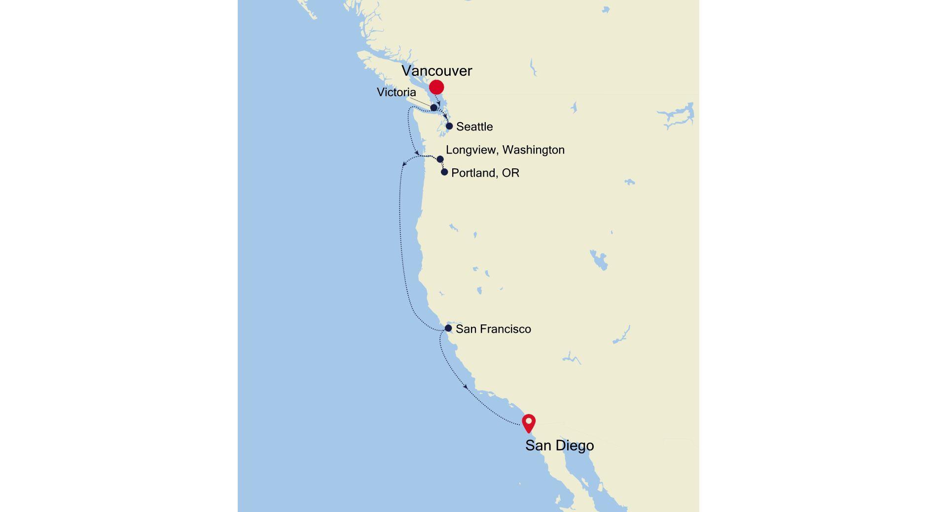 E4201008009 - Vancouver à San Diego