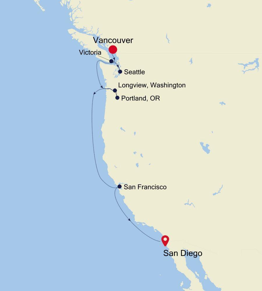 E4201008009 - Vancouver to San Diego