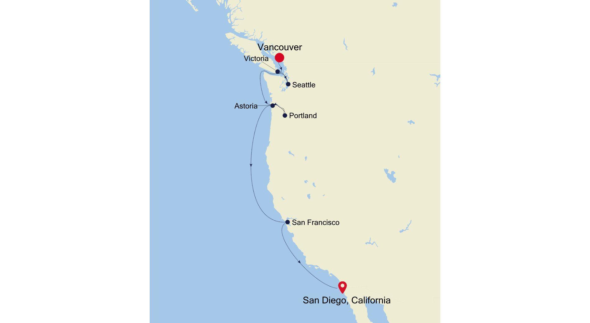 E4211001009 - Vancouver à San Diego