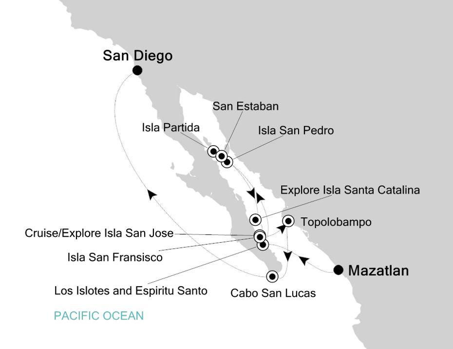 7808 - Mazatlan nach San Diego
