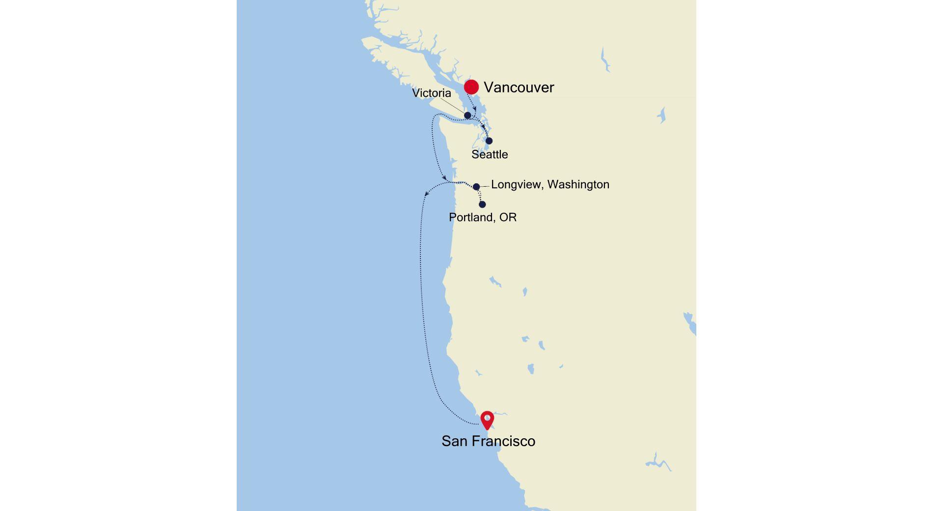 E4201008007 - Vancouver to San Francisco