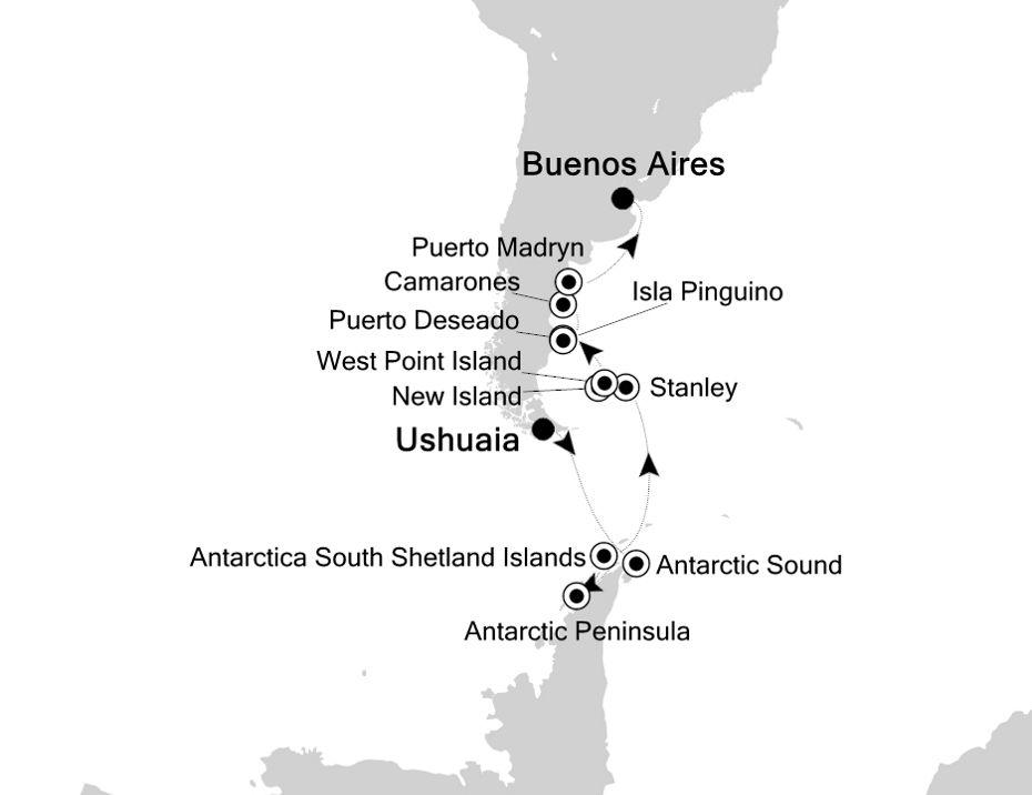 E4210301018 - Ushuaia nach Buenos Aires