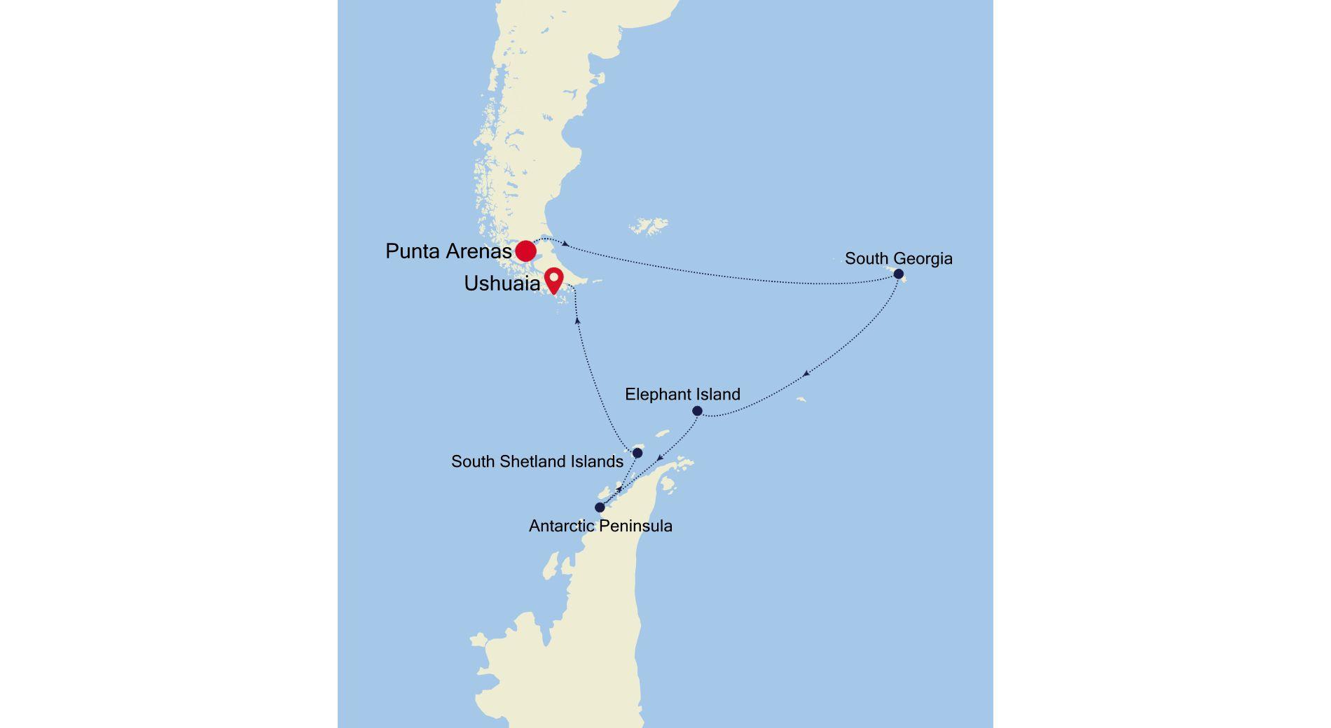 E4211114016 - Punta Arenas a Ushuaia