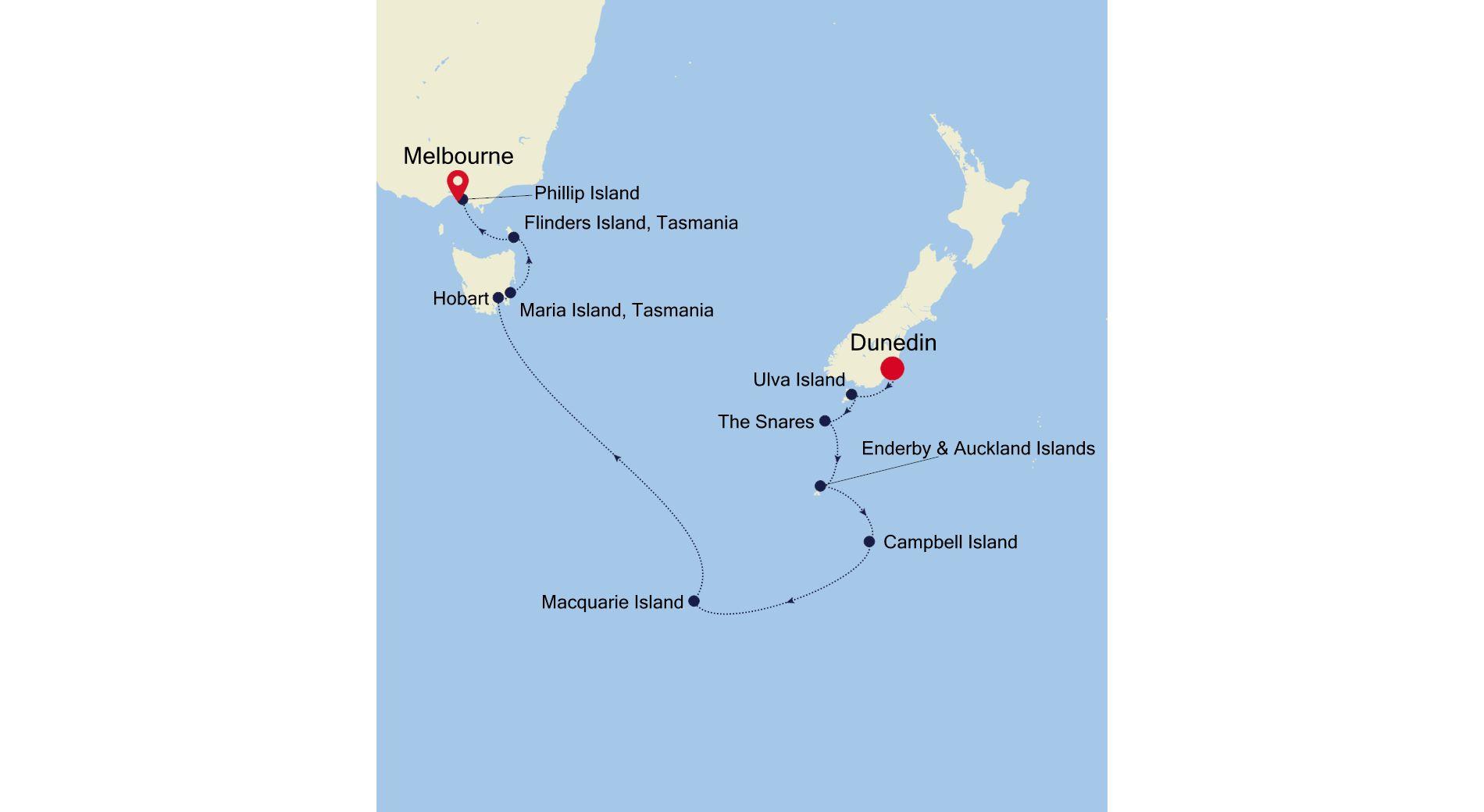 E1210209015 - Dunedin nach Melbourne