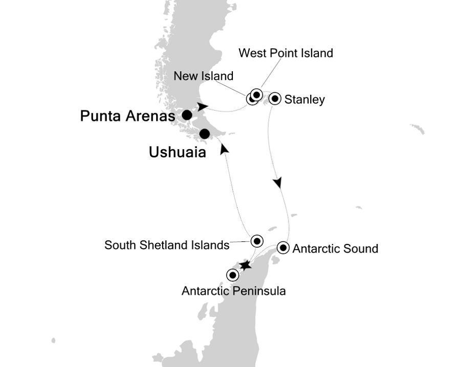 1825 - Punta Arenas a Ushuaia
