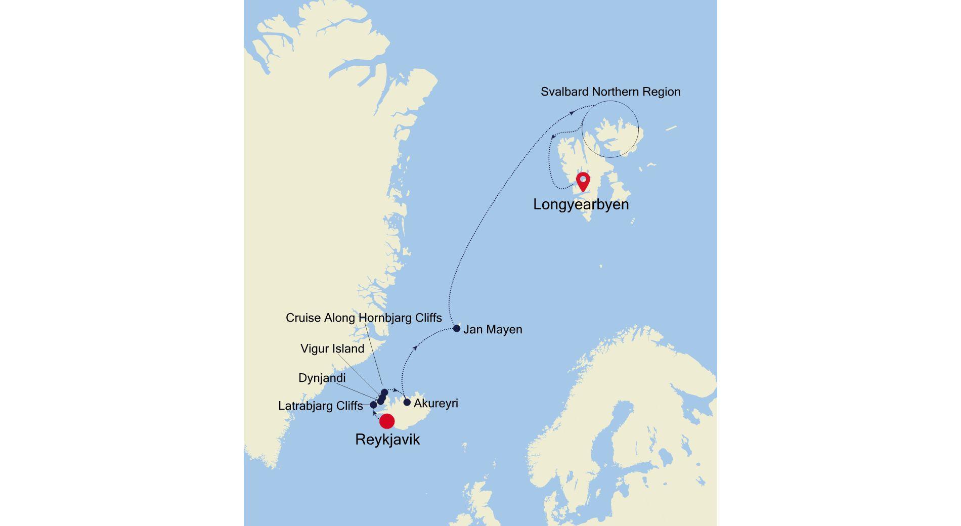 E4200610011 - Reykjavik nach Longyearbyen
