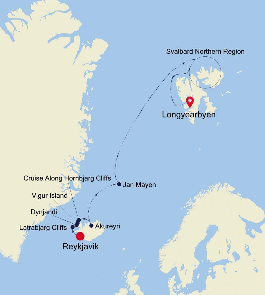 E4200610011 - Reykjavik to Longyearbyen