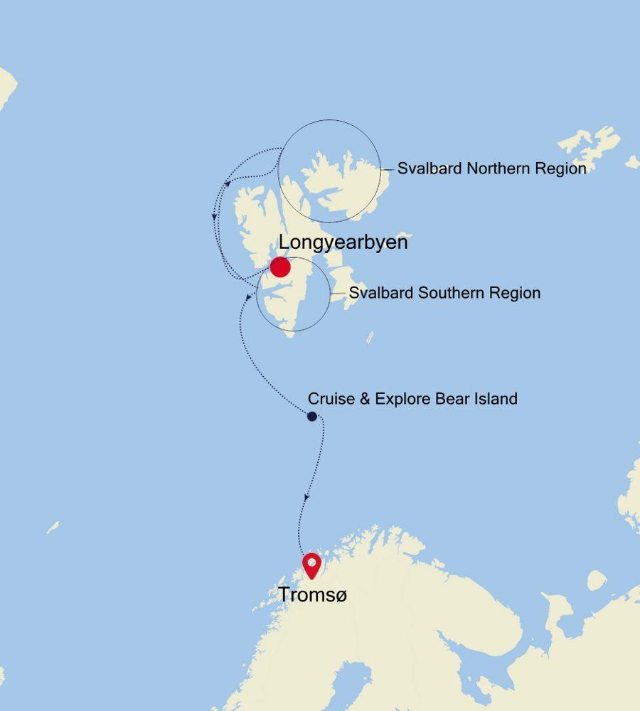 E4200621009 - Longyearbyen a Tromsø