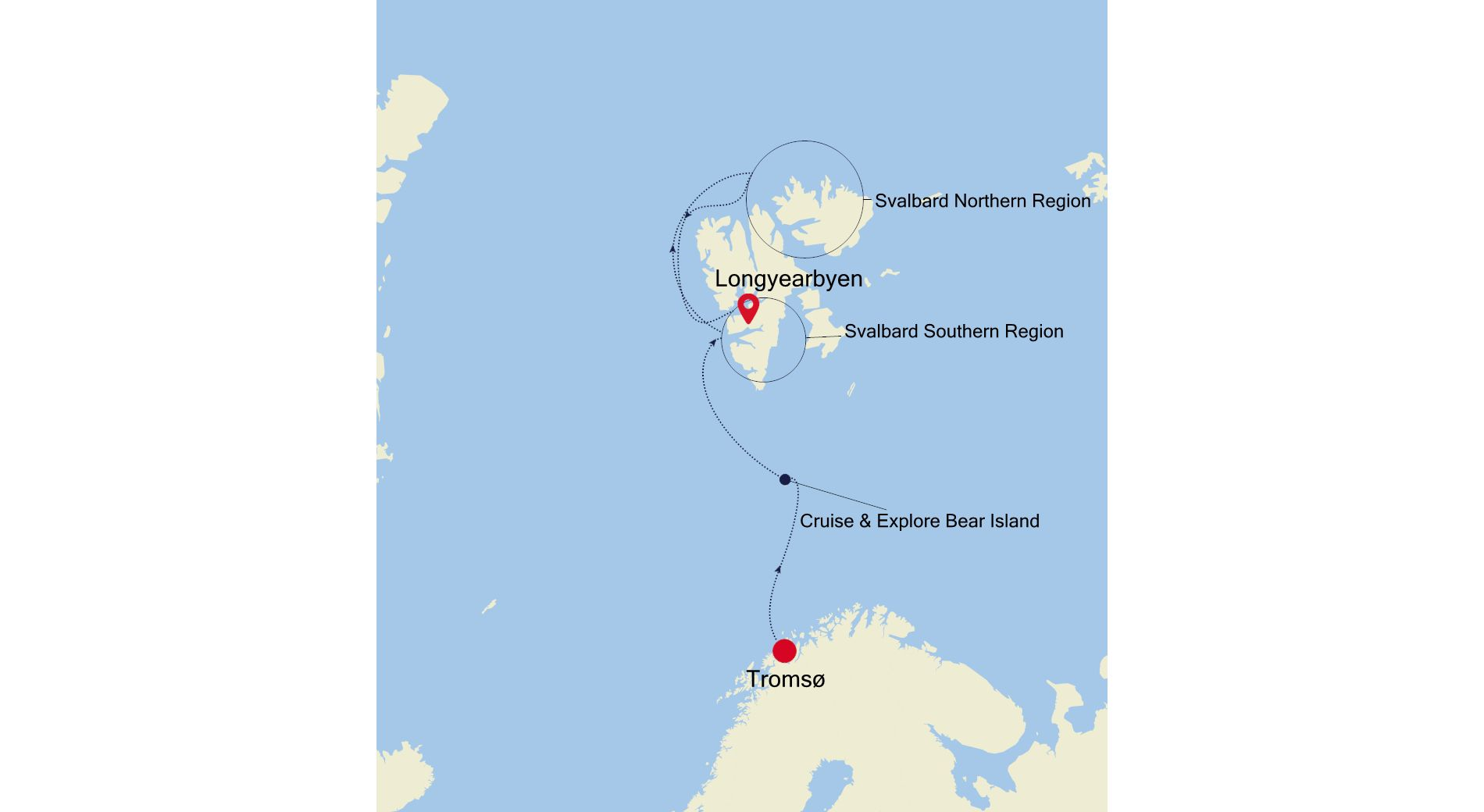 E4200630009 - Tromsø a Longyearbyen