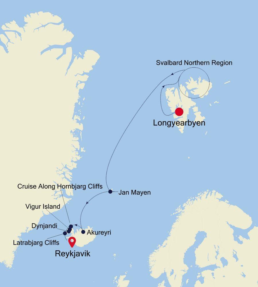 E4200709011 - Longyearbyen nach Reykjavik