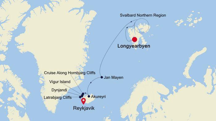 Luxury Cruise from LONGYEARBYEN to REYKJAVIK 09 Jul 2020 ...