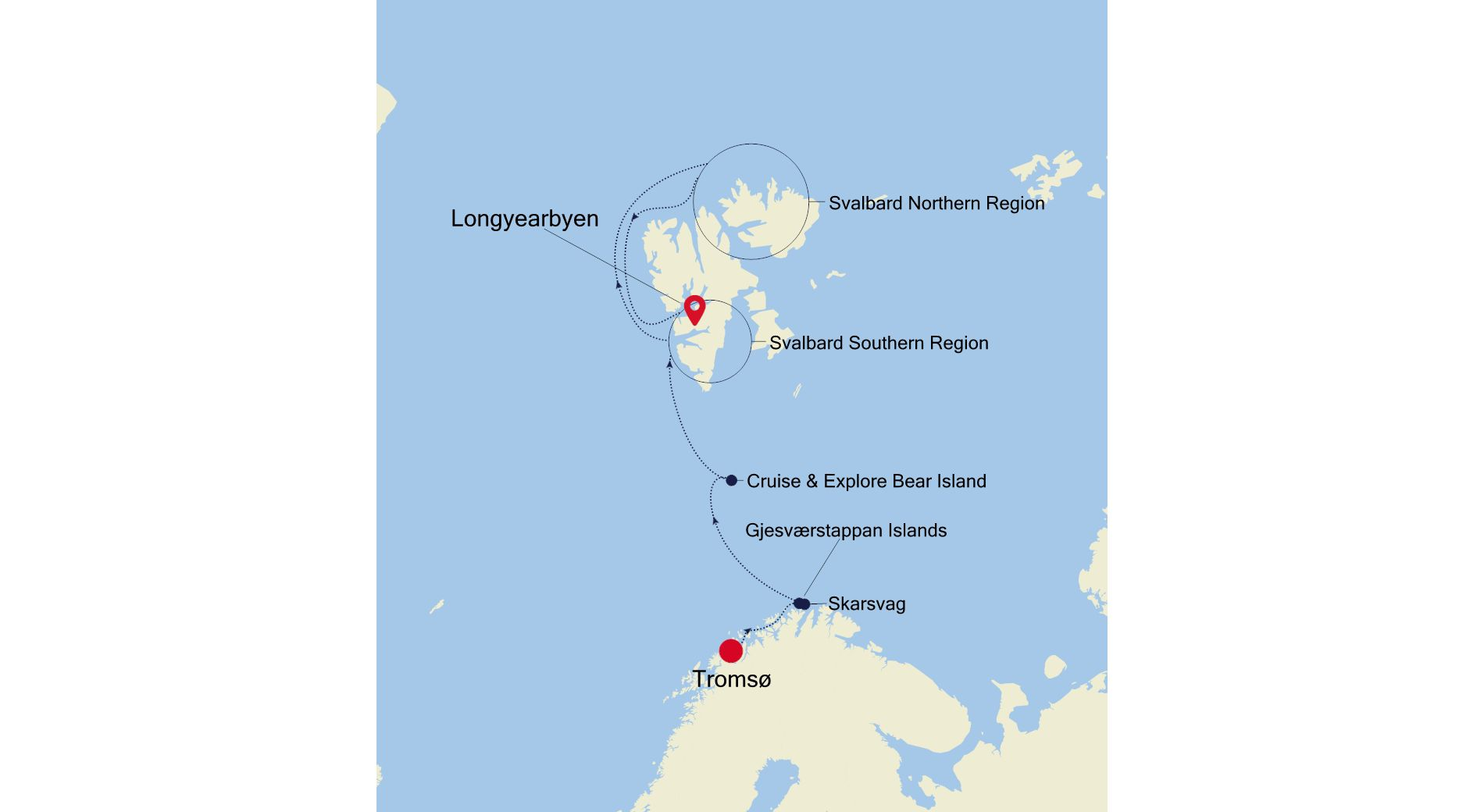 E4210626010 - Tromsø a Longyearbyen