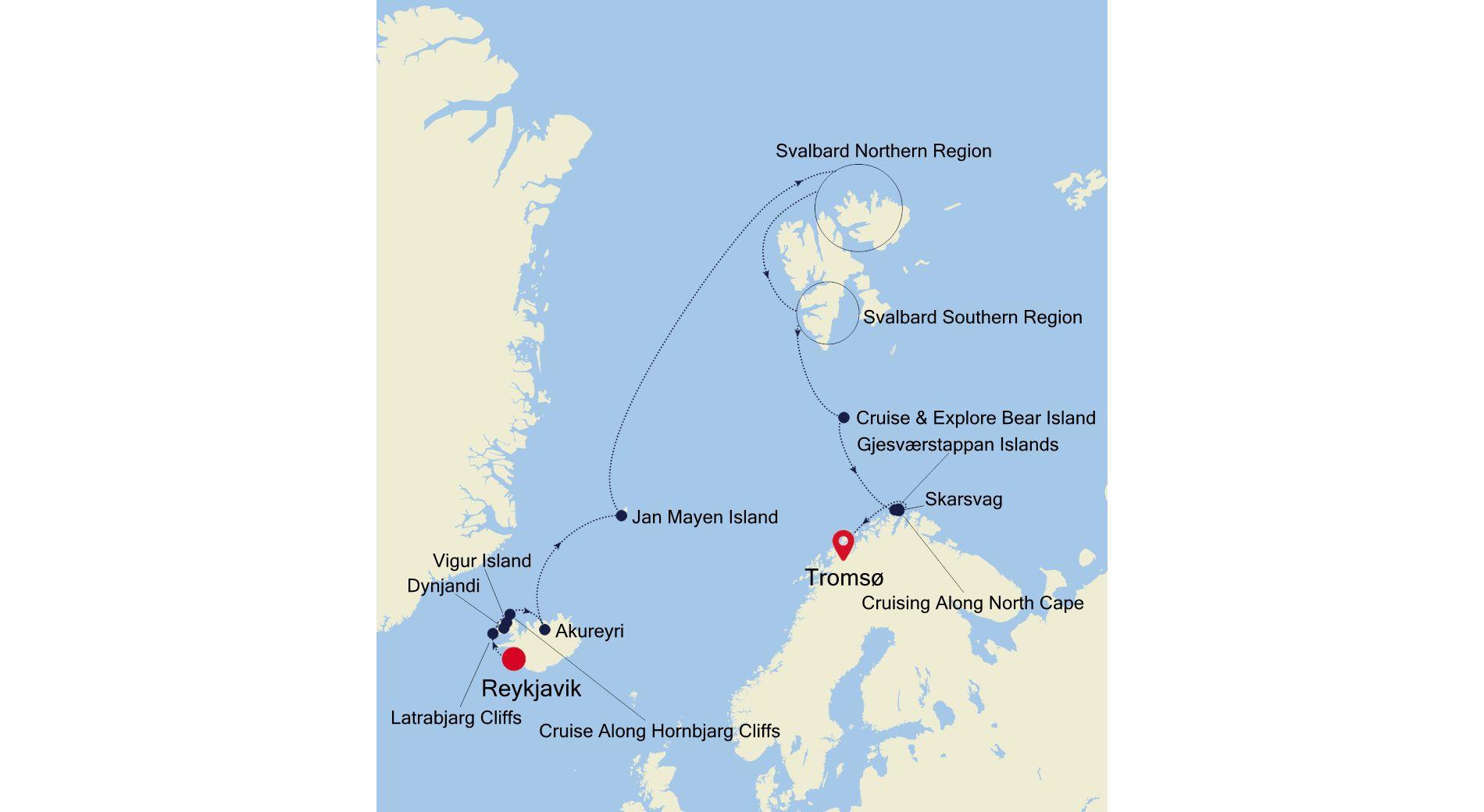 E4210703013 - Reykjavik to Tromsø