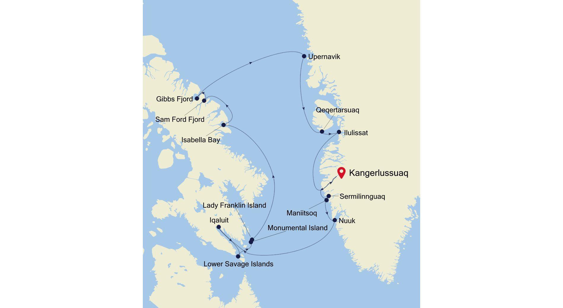 E4210808016 - Kangerlussuaq a Kangerlussuaq