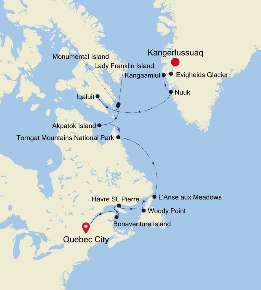 1921 - Kangerlussuaq nach Quebec City