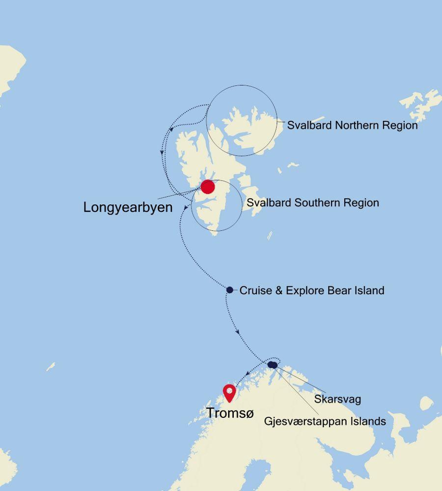 1916 - Longyearbyen nach Tromsø
