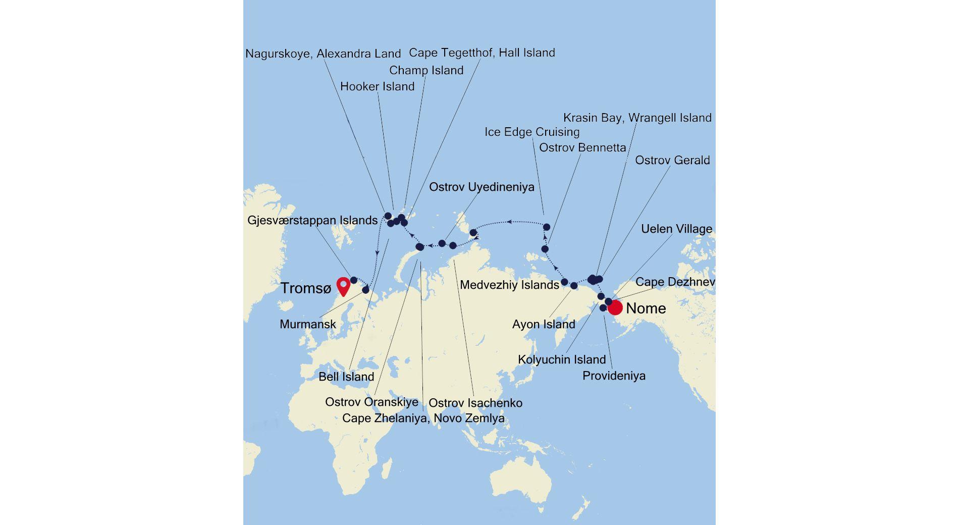 7916 - Nome nach Tromsø