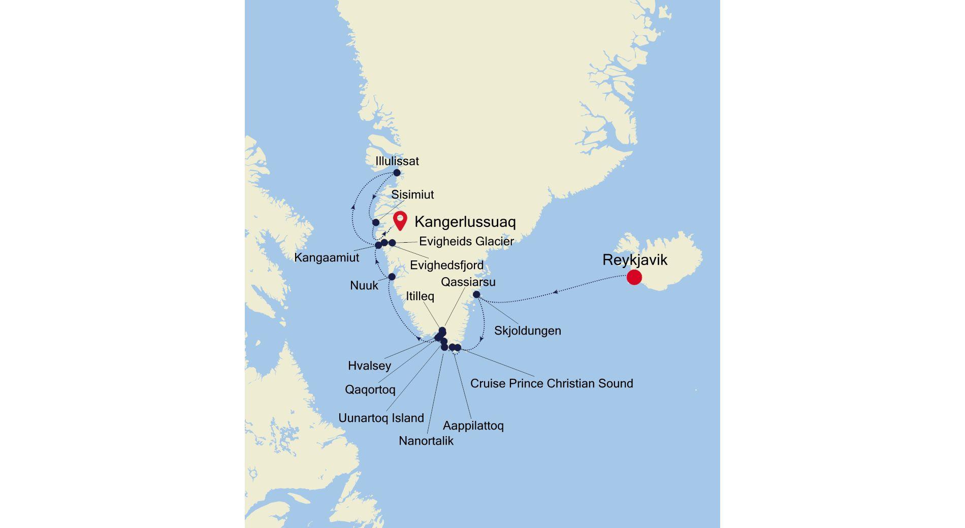 1919 - Reykjavik nach Kangerlussuaq