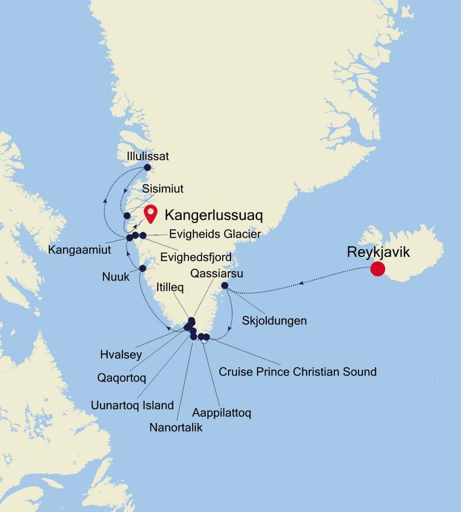1919 - Reykjavik à Kangerlussuaq