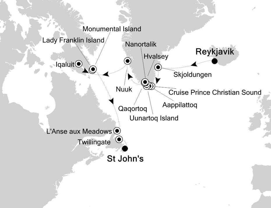 7918 - Reykjavik a St John's
