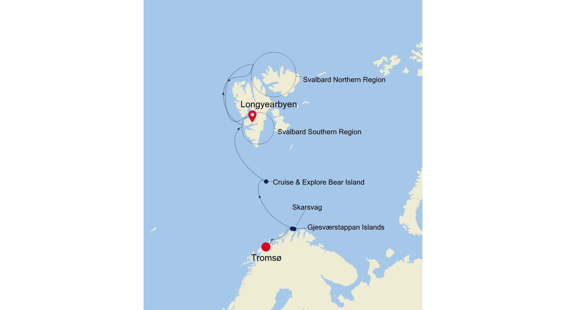 1915 - Tromsø nach Longyearbyen