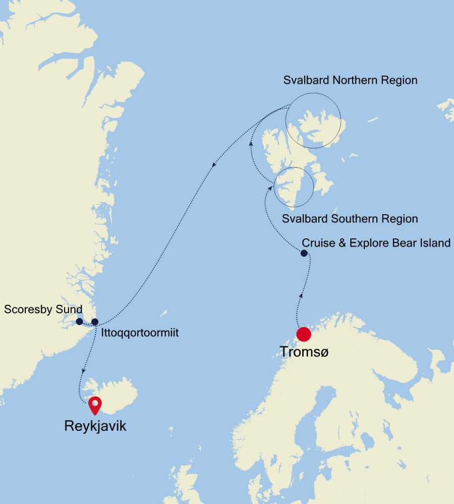 7917 - Tromsø nach Reykjavik
