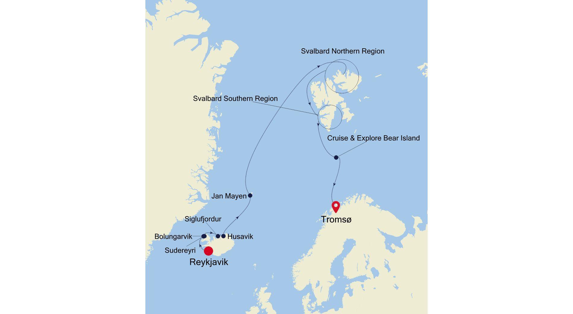 WI210707013 - Reykjavik to Tromsø