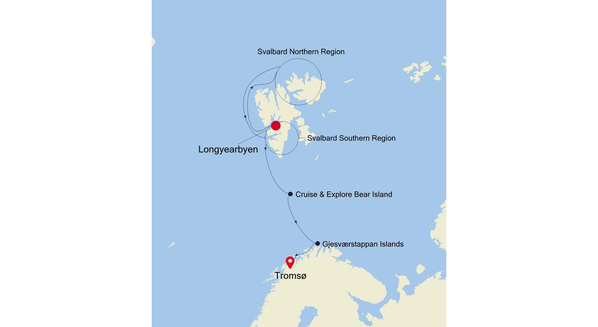 WI210730010 - Longyearbyen to Tromsø