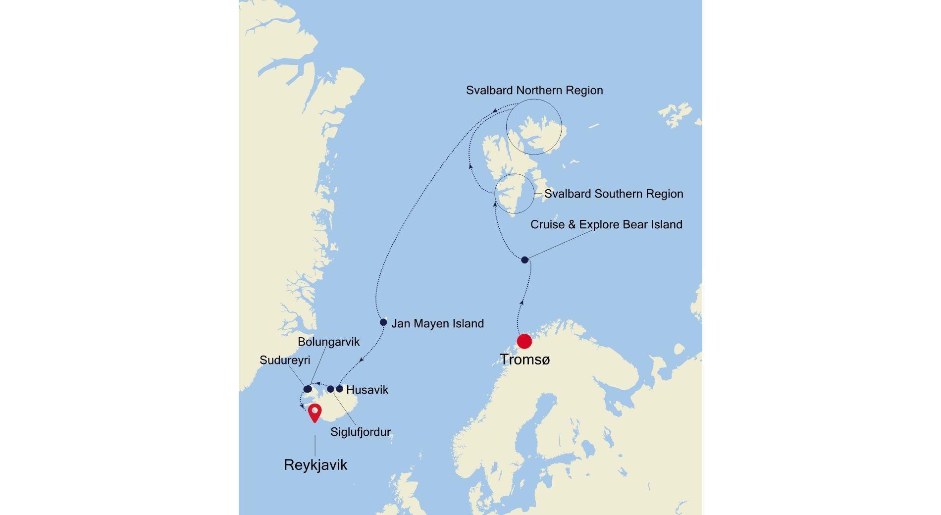 WI210809013 - Tromsø nach Reykjavik