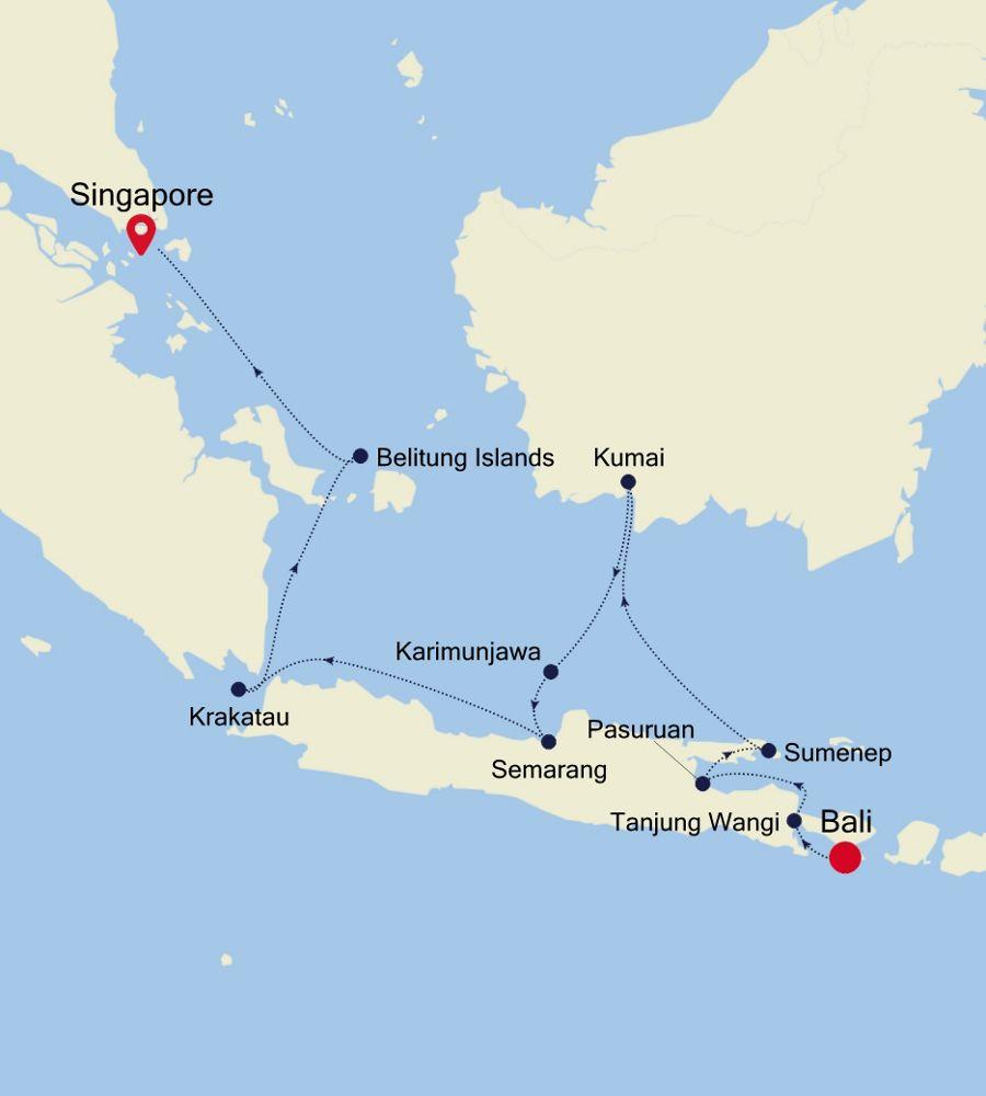 9916 - Bali nach Singapore