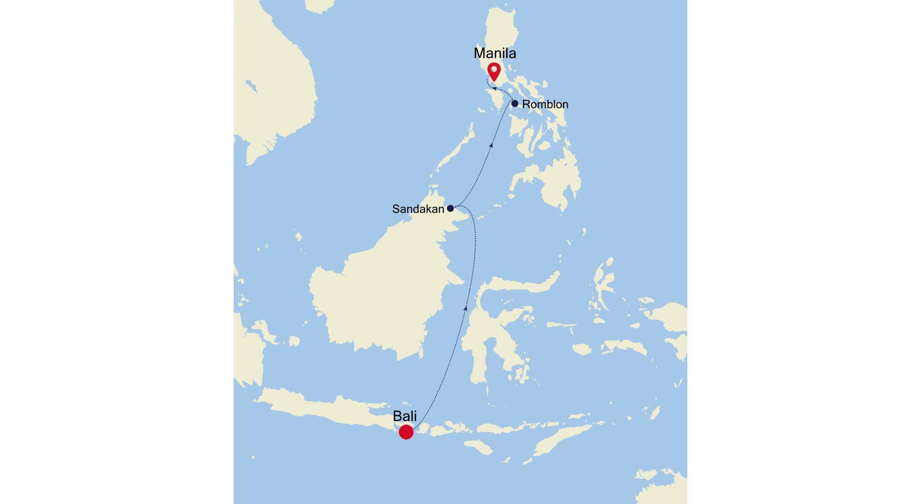 6905A - Bali à Manila