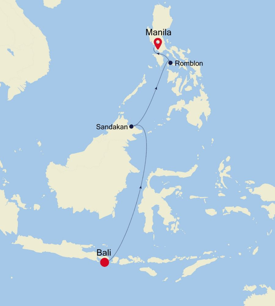 6905A - Bali a Manila