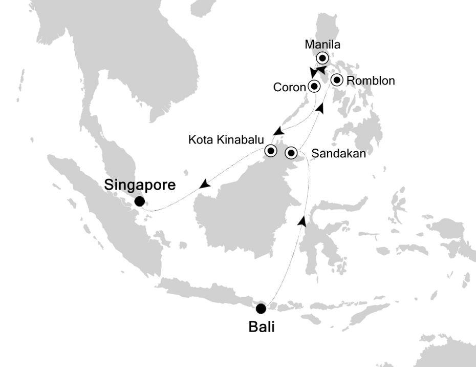6905 - Bali nach Singapore