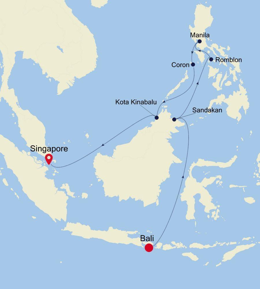 6905 - Bali a Singapore