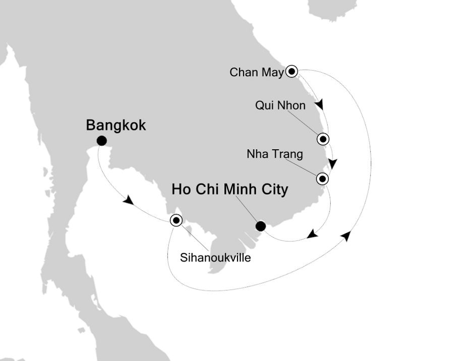 3834X - Bangkok to Ho Chi Minh City